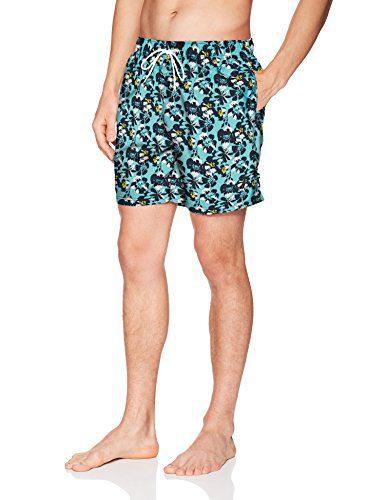 Nautica Men's Quick Dry Full Elastic Waist Signature Print Swim Trunk, Bali Bliss, XX-Large