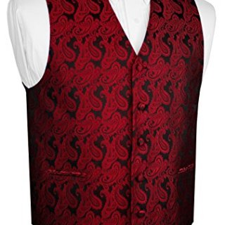 Brand Q Men's Paisley Vest Bow-Tie Set-Apple L