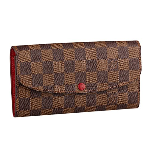 Louis Vuitton Damier Ebene Canvas Emilie Wallet Article:N63544 Made in France