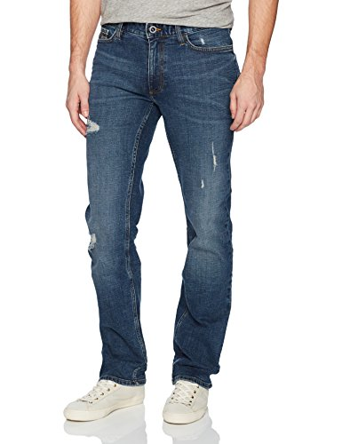 Calvin Klein Jeans Men's,Slim Straight Fit Denim Jean,Crashed Indigo, 40W 30L