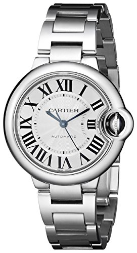Cartier Women's Analog Display Automatic Self Wind Silver Watch