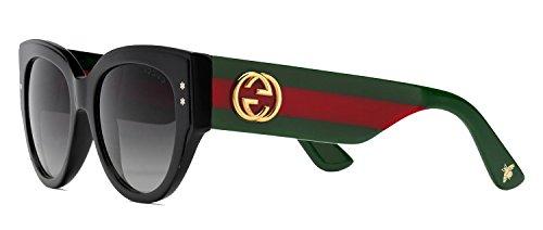 Sunglasses Gucci 3864/S 0U1C Black Green Red / 9O dark gray gradient lens