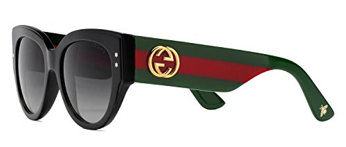 Sunglasses Gucci 3864/S 0U1C Black Green Red / 9O dark gray gradient lens