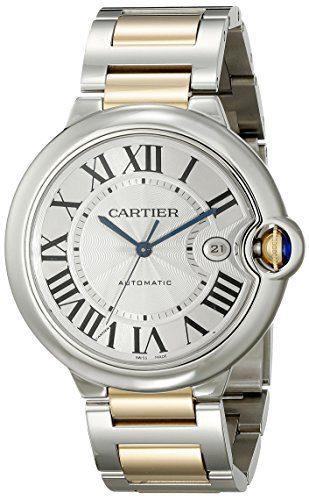 Cartier Men's Ballon Bleu Stainless Steel and 18K Gold Automatic Watch