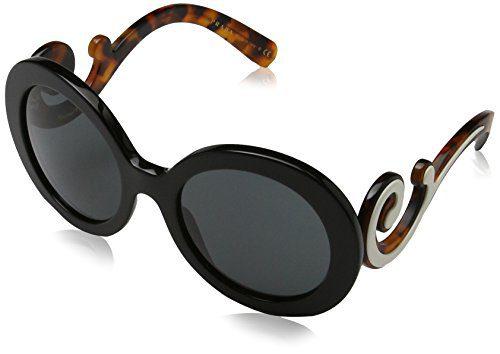 Prada Women's Black/Gray Sunglasses