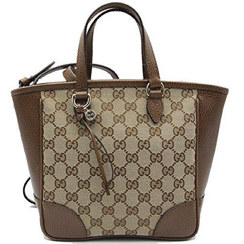 Gucci Bree Small GG Canvas Tote Bag Nocciola Brown New Bag