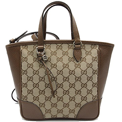 Gucci Bree Small GG Canvas Tote Bag Nocciola Brown New Bag