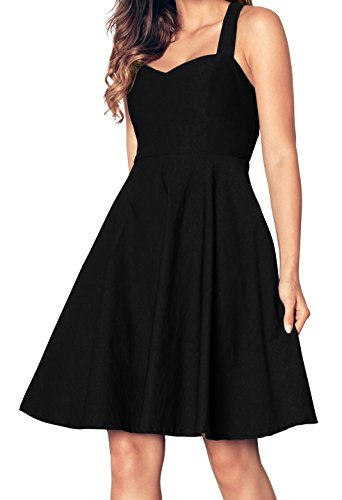 Aixy Women's Sexy Summer Vintage Cocktail Sleeveless Dress