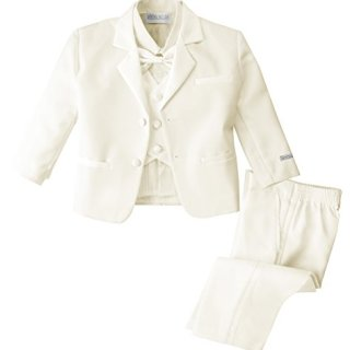 Spring Notion Baby Boys' Ivory Classic Fit Tuxedo Set, No Tail 3T