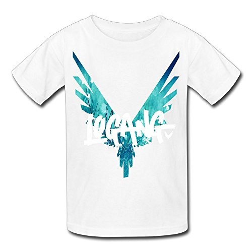 Christina W. Halle Youth Kids Spring Fashion T-Shirt Short Sleeve Logan Paul Logo Customization White L