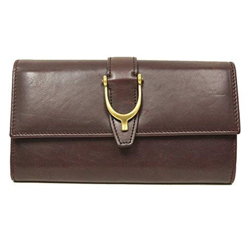 Gucci Spur Detail Continental Plum Purple Leather Wallet