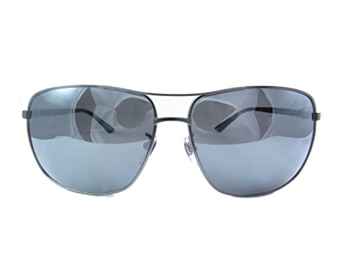 Gucci Men Gunmetal/Silver Sunglasses 66mm