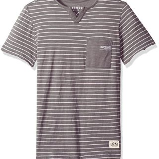 Buffalo by David Bitton Big Boys' Short Sleeve Henley Tee Shirt, Suve Ardent, Small (8)