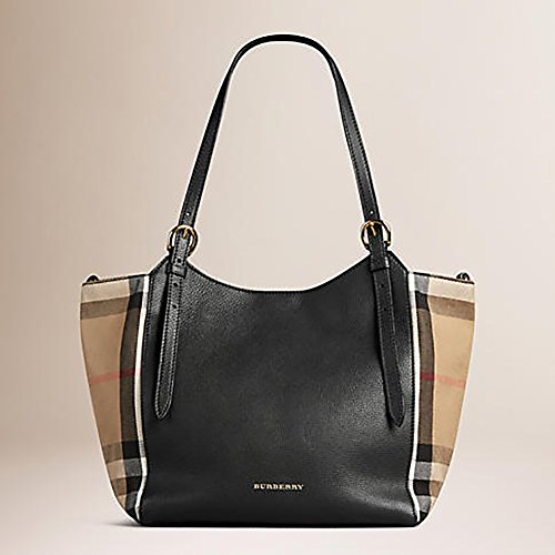 3fa9104a8331 Home   Shop   Women   Accessories   Handbags   Wallets   Tote Bag Handbag  Authentic Burberry Small Canter in Leather and House Black Color Made in  Italy