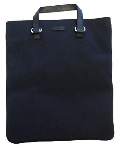 Gucci Dark Navy Nylon Leather Tote