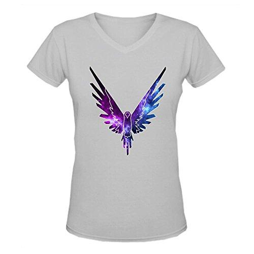 Doppelwalker Maverick Logo T Shirt,Logan Paul Logang YouTube womens V Neck T-Shirts Grey XL