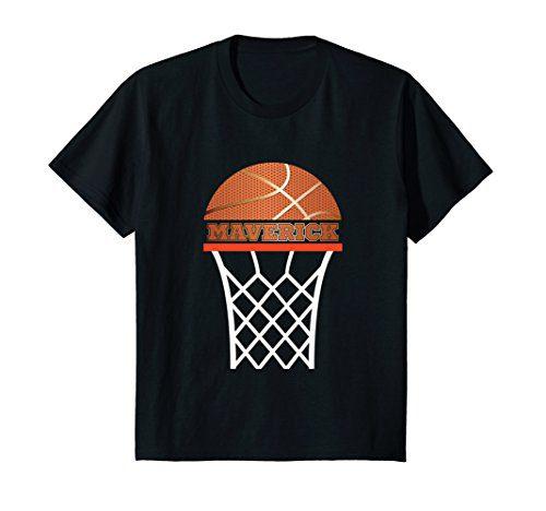 Kids Basketball Apparel Custom Name Maverick Youth Graphic Shirt