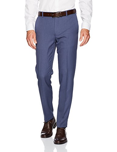 Van Heusen Men's Traveler Slim Fit Pant, Ash Navy, 30W X 30L