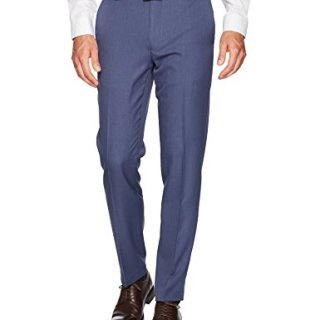 Van Heusen Men's Traveler Slim Fit Pant, Ash Navy, 30W X 30L