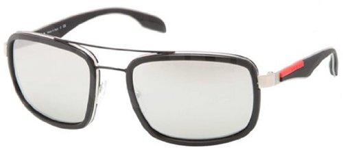 Prada Sport Sunglasses-1BO/2B0 Rubber (Mirr Silver Lens)-57mm