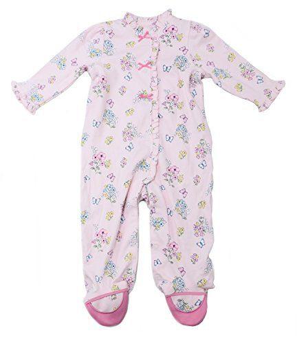 Little Me Girls' Size 9 Months One-Piece Sleepwear, Pink Print