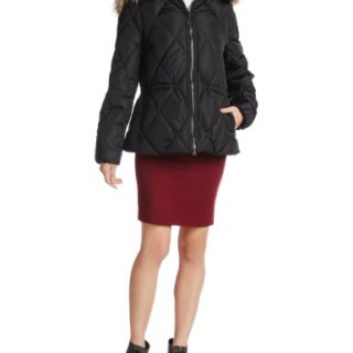 Coach Women's Short Legacy Puffer Jacket Coat (XSmall, Black)