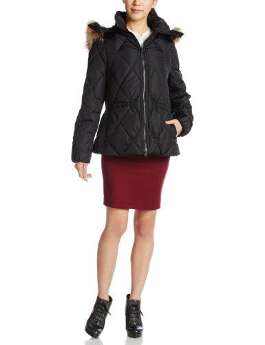 Coach Women's Short Legacy Puffer Jacket Coat (XSmall, Black)