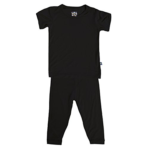 KicKee Pants Short Sleeve Pajama Set Little Boys, Midnight, 18-24 Months