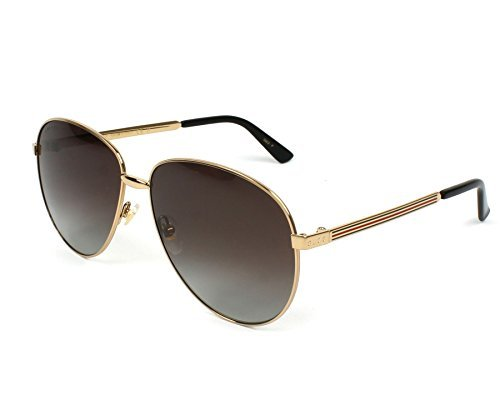 Gucci GG0138S 005 Gold/Brown GG0138S Pilot Sunglasses Polarised Lens Category