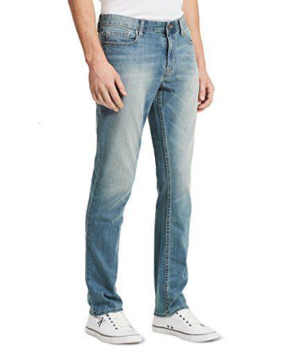 Calvin Klein Jeans Men's Slim Straight Leg Jean In Sliver Bullet, Silver Bullet, 32x32