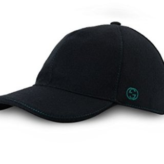Gucci Signature Web Stripe Wool Baseball Cap, Black (Nero), (M (Medium)/58 cm/22.8 in)
