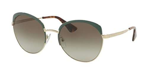 Prada Women's Sunglasses Green/Pale Gold/Green Gradient 59mm