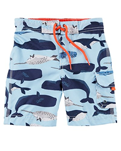 Carter's Baby Boys' Swim Trunks (24 Months, Blue Whale)