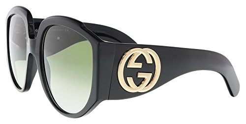 Gucci BLACK / GREEN Sunglasses