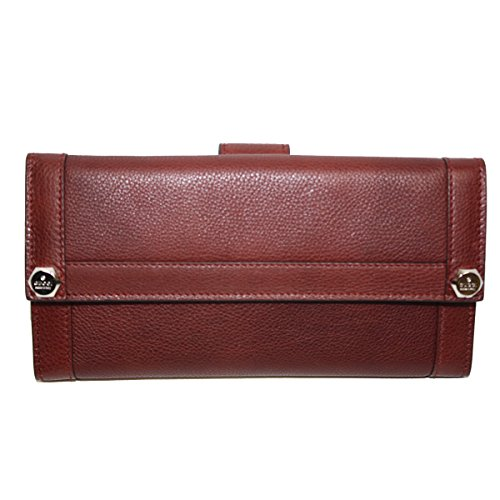 Gucci Leather Continental Flap Wallet, Red Wine