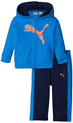PUMA Baby Boys' 2pc Hoodie and Pant Set, Sky Blue, 18 Months