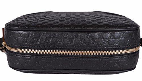 Home Shop Women Accessories Handbags   Wallets Gucci Women s Leather Micro  GG Guccissima BREE Crossbody Purse Bag (Black) e72aa224887d5