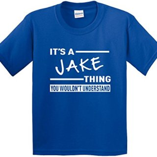 New Way 776 - Youth T-Shirt It's A Jake Thing You Wouldn't Understand Medium Royal Blue