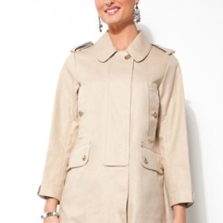 Coach Ladies Balmacaan Khaki Overcoat - Size Small
