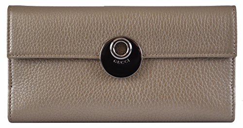 Gucci Women's Metallic Beige Leather Continental W/Coin Wallet