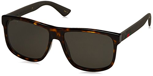 Gucci Men Tortoise/Grey Sunglasses 58mm