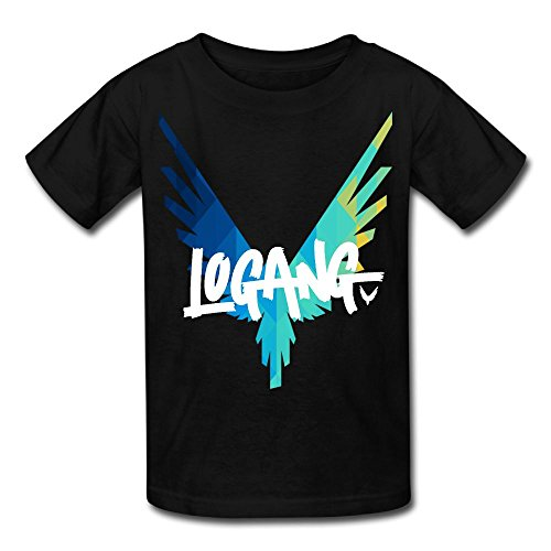 Eric A. Collins Youth Kids T-Shirt Short Sleeve Logan Paul Same Popular Logo Black M