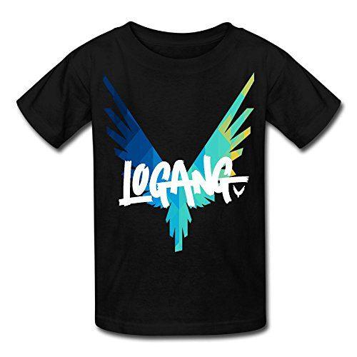 Eric A. Collins Youth Kids T-Shirt Short Sleeve Logan Paul Same Popular Logo Black M