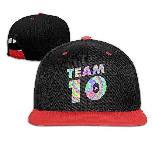 Kddcasdrin Team10 Tie Dye Jake Paul Children Youth Adjustable Baseball Cap Hip-Hop Hat