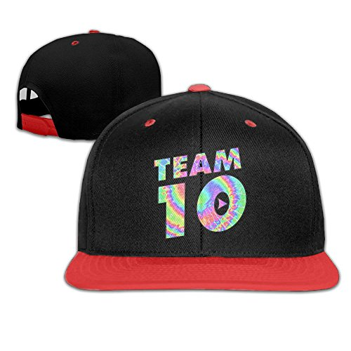 Kddcasdrin Team10 Tie Dye Jake Paul Children Youth Adjustable Baseball Cap Hip-Hop Hat