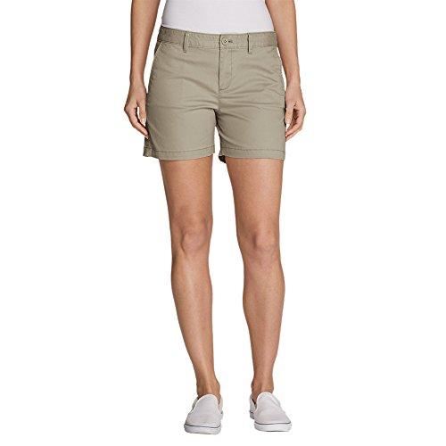 """Eddie Bauer Women's Willit Legend Wash Stretch Shorts - 5"""", Cloud Regular 6"""