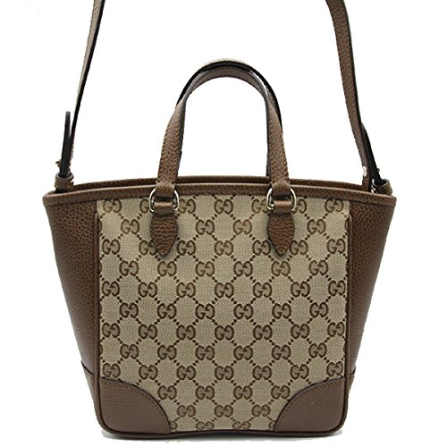 e3674af32d7 Home Shop Women Accessories Handbags   Wallets Gucci Bree Small GG Canvas  Tote Bag Nocciola Brown New Bag