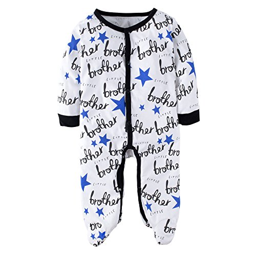 Big Elephant Unisex-baby 1 Piece Long Sleeve Snap-Up Romper Pajama J88