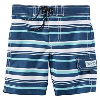 Carter's Little Boys' Swim Trunks (3T, Light Blue Stripe)
