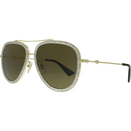 Gucci Gold Pilot Sunglasses Lens Category 3 Size 57mm